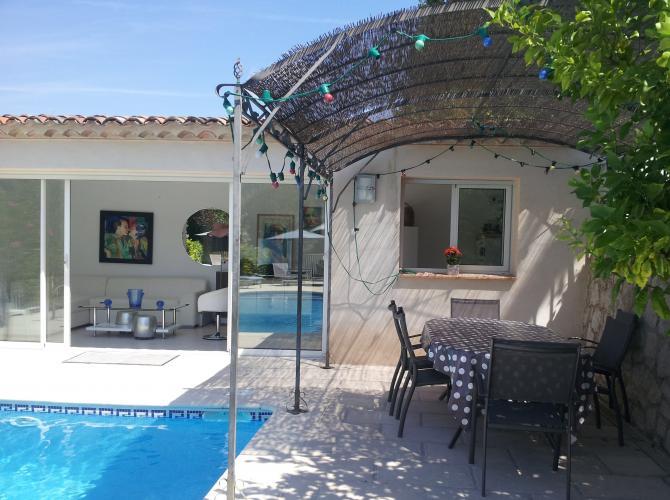 Piscine avec pool house