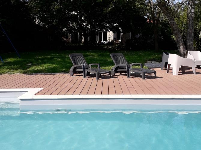 Belle piscine sans vis-à-vis