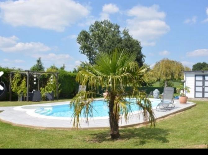 Belle piscine au soleil