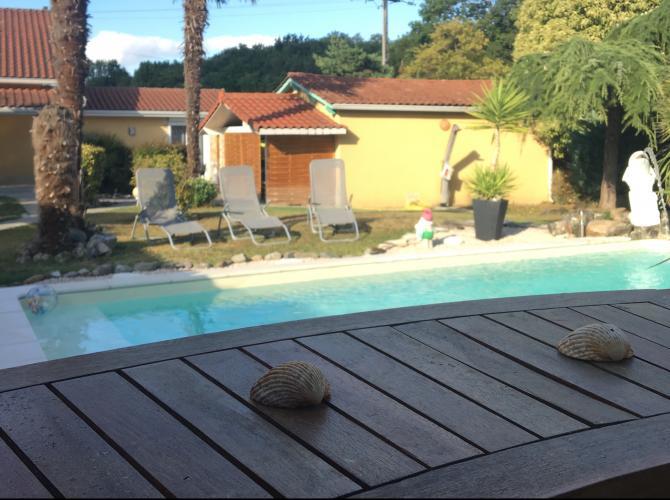 Belle piscine avec parc de verdure, sans vis à vis à 20km de Toulouse