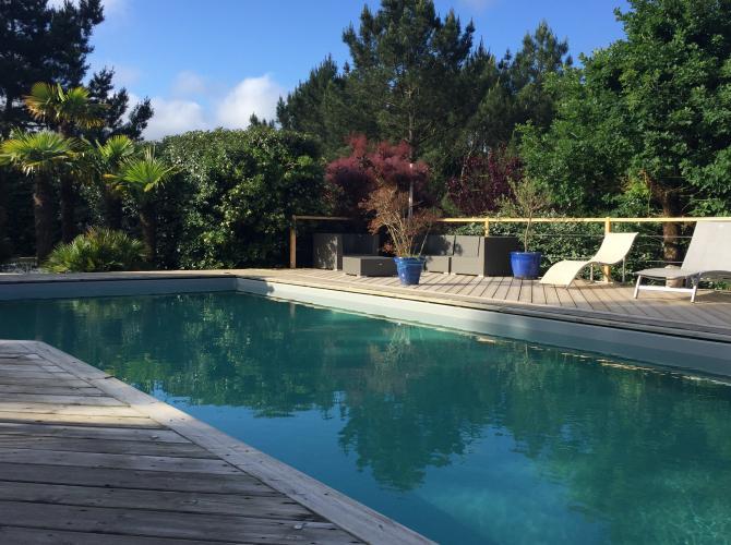 superbe piscine proche de la dune du Pilat