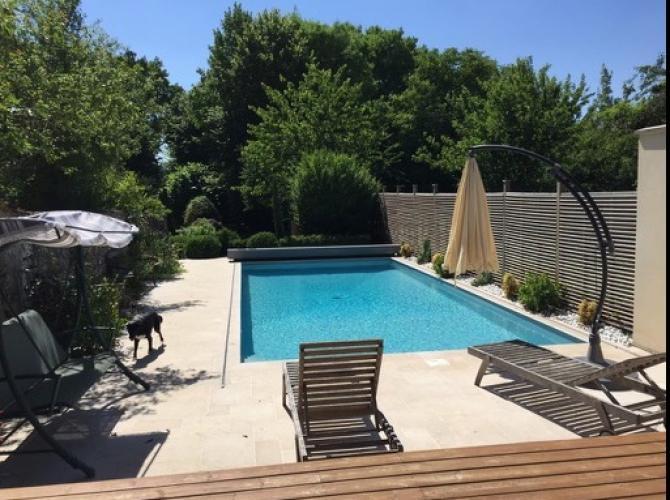Location d'une piscine privée et chauffée à 1h de Paris (Levainville)