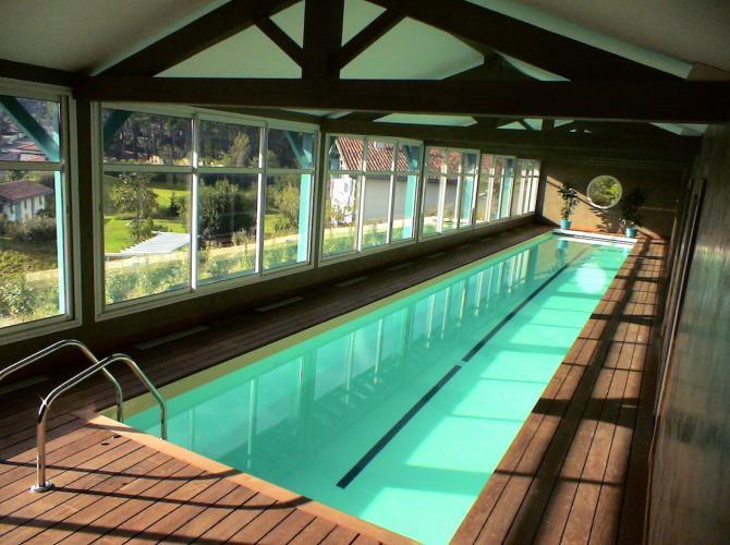 Couloir de nage intérieur chauffée à 15min de Biarritz.JPG
